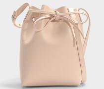 Bucket Bag Mini Bucket aus rosa Kalbsleder