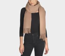 Schal Canada New aus karamellfarbener Wolle