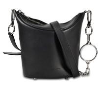 Ace Crossbody Tasche aus schwarzem Rindsleder