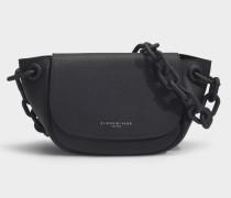 Tasche Bend aus schwarzem Leder