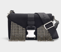 Handtasche mit Schulterriemen Devine aus Kristallen aus Neopren und Kristallenn in Schwarz