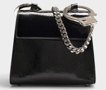 Handtasche Shackles aus schwarzem Kalbsleder