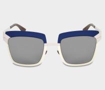 Studio 4.2 Sonnenbrille aus Cloudy Sky Mod Acetat und Metall