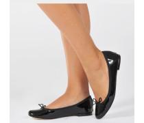 Cendrillon BallErina Schuhe aus schwarzem Kalbsleder