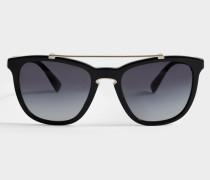 Acetat Sonnenbrille aus schwarzem Acetat