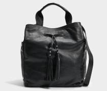 Saxo Tasche aus schwarzem Leder