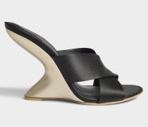 Alcimo Mule Schuhe aus schwarzem Satin