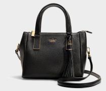 Kleine Handtasche Fourre-tout Alena aus schwarzem Kalbsleder