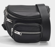 Attica Soft Fanny Messenger Bag in Black Nappa Lambskin