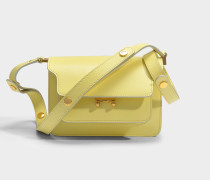Mini Trunk Tasche aus Vanille Saffiano Leder