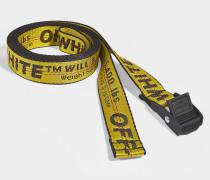 Gürtel Mini Industrial aus gelbem und schwarzem Synthetikmaterial