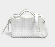 Don Baulundto Mini Gommino Tasche aus weißem Grace Lux Kalbsleder