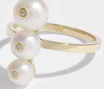 Ménage A Trois Ring aus 14K Gelbgoldfarbenem und Diamanten