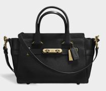 Swagger 27 Carryall Tasche aus schwarzem Kalbsleder