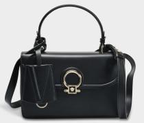 DV One Small Bag aus schwarzem Kalbsleder