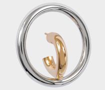 Saturn Blow M Mono Ohrring aus gelbem Vermeil und Silber