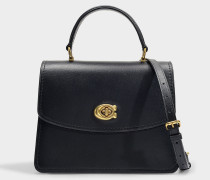 Parker Top Handle Bag in Black Refined Calf Leather
