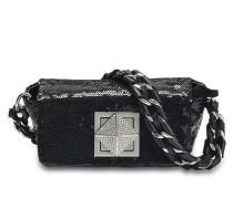 Le Cpoin Mini Tasche aus schwarzem Ziegenleder