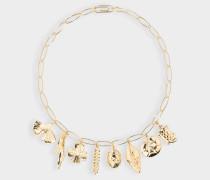 Halskette Aurélie aus vergoldetem Messing