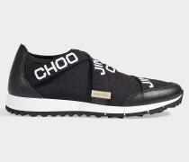 Sneaker Toronto Stretch mit schwarz weißen Maschen, Leder und Gummi