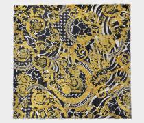 Savage Barocco 90x90 Print Schal aus bunter Seide