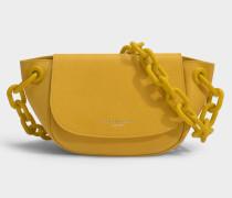 Tasche Bend in gelbem Leder