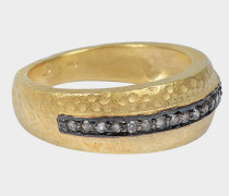 Angel Ring goldfarbenem-plattiertem mit silber und Diamantenen
