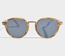 Sonnenbrille aus blauem Acetat