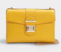 Marianne Shoulder Bag in Saffron Grainy Calf Leather
