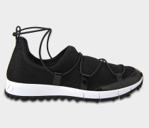 Andrea Netzstoff Sneaker aus schwarzem Stoff Netzstoff
