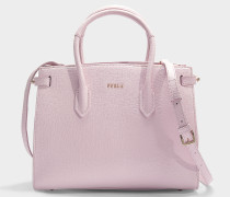 Kleiner Shopper East/West aus Kalbsleder Saffiano in Rosa