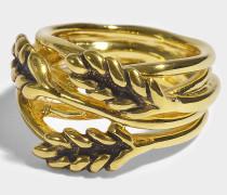 Large Wheat Ring aus 18K vergoldetem Messing