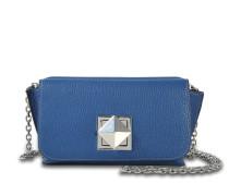 Le Cpoin Medium Tasche aus navyblauem Ziegenleder