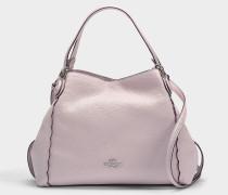 Handtasche Edie 28 mit Schlingstich aus mattrosa Kalbsleder