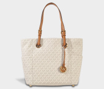 Jet Sand Item EW Signature Tote Bag aus Vanilla Canvas Monogram