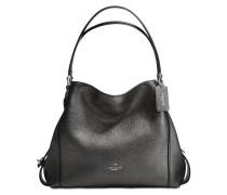 Edie 31 Shoulder Bag aus graphitfarbenem Kalbsleder