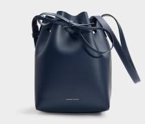 Bucket Bag Mini Bucket aus blauem Kalbsleder