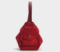 Mini Handtasche Fernweh aus Samt in Rot