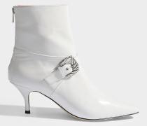 Stiefeletten Saloon aus weißem Lackleder