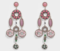 Jeweled Statement Ohrringe aus rosanem Messing
