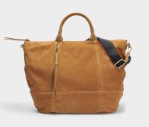 Only You Tote Bag aus braunem Leder
