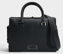 Pia Tote Bag aus schwarzem Leder