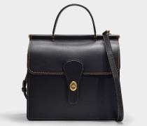 Tasche mit Henkel Willis aus schwarzem Kalbsleder