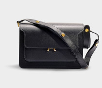 Trunk Medium Bag in Black Saffiano Leather