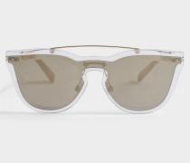 Metall und Nylon Sonnenbrille aus Metalloptik