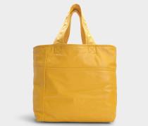 Tasche Sunday aus gelber Baumwolle