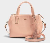Kleine Handtasche Fourre-tout Alena aus rosa Kalbsleder