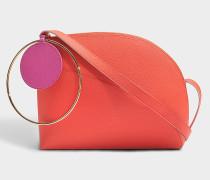Eartha Medium Tasche aus Desert rosanem Kalbsleder