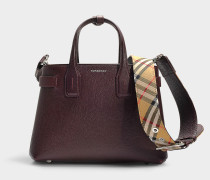 The Banner Small Tote in Mahogany Red Calfskin