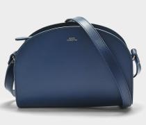 Tasche Demi-Lune aus marineblauem Kalbsleder